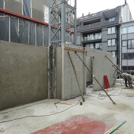 Betonwanden 1ste verdieping