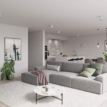 Interieur leefruimte appartement 5