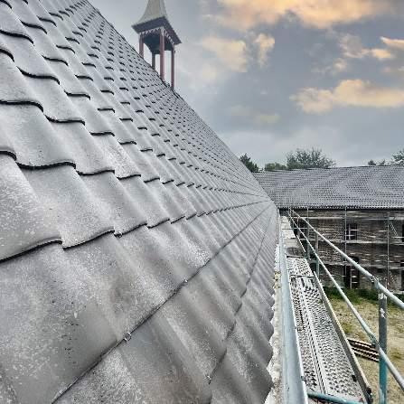 Vernieuwen dak - Pottelbergse pan 451 vieilli blauw gesmoord